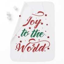joy to the world Christmas Receiving Blanket