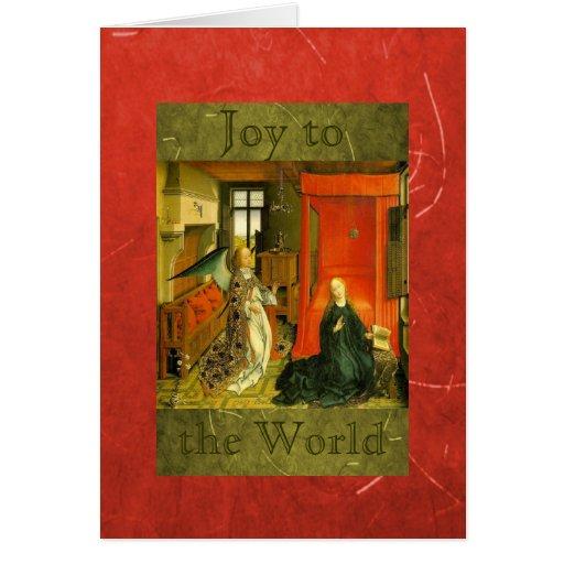 Joy to the World Christmas Rejoice Card
