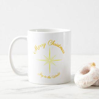 Joy To The World Christmas Star Coffee Mug