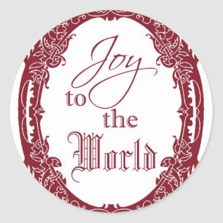Joy to the World Christmas Stickers, Seals