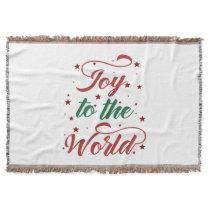joy to the world Christmas Throw Blanket