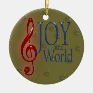 JOY to the World Christmas Tree Ornaments