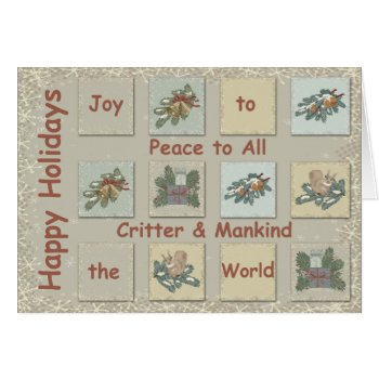 Joy to the World Country Christmas Card