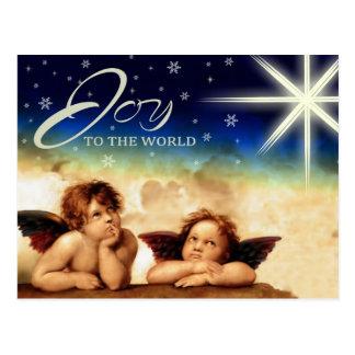 Joy to The World. Customizable Christmas Postcards