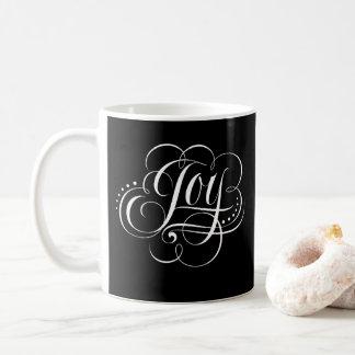 Joy to the World - Elegant Black Christmas Joy Coffee Mug