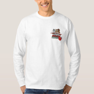 Joy To the World Embroidered Long Sleeve T-Shirt