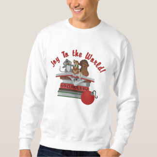 Joy To the World Embroidered Sweatshirt