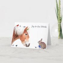 Joy to the World: Enjoy the simple pleasure. Holiday Card