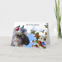 Joy to the World: Enjoy the simple pleasures. Holiday Card