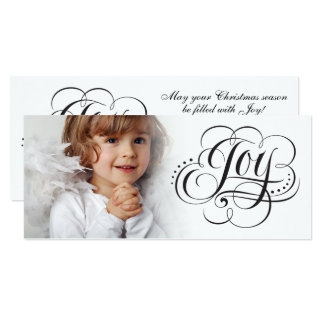 Joy to the World Fancy Christmas Lettering Card