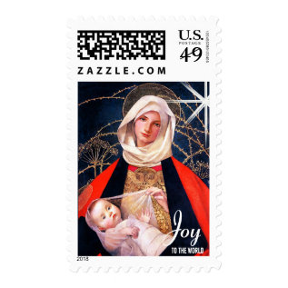 Joy To The World. Fine Art Christmas Postage Stamp at Zazzle
