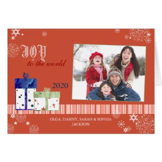 JOY TO THE WORLD Folded Christmas Photo Cards