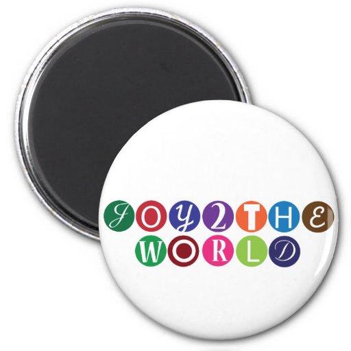 Joy To The World Fridge Magnet