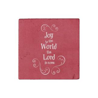 Joy to the World Stone Magnet