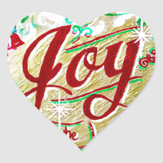 Joy to the World heart sticker by Jan Marvin