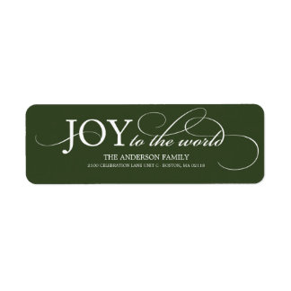 JOY TO THE WORLD HOLIDAY ADDRESS LABELS