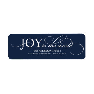 JOY TO THE WORLD   HOLIDAY ADDRESS LABELS