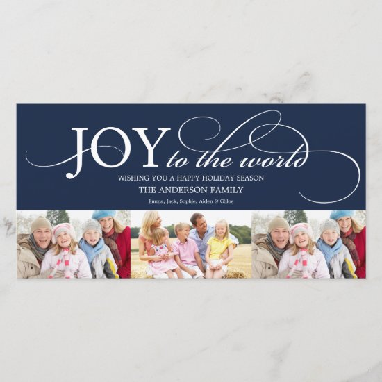 JOY TO THE WORLD | HOLIDAY PHOTO CARD