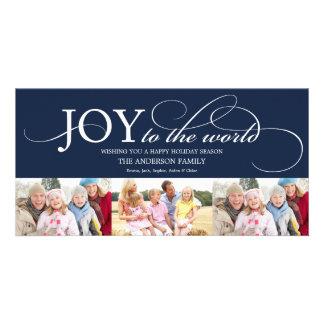 JOY TO THE WORLD   HOLIDAY PHOTO CARD