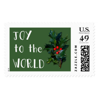 Joy to the World Holiday Stamps