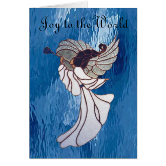 Joy to the World in Stained Glass Card