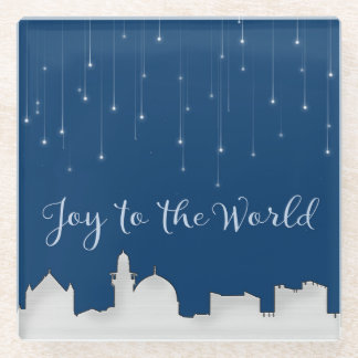 Joy to the World Jerusalem Glass Coaster