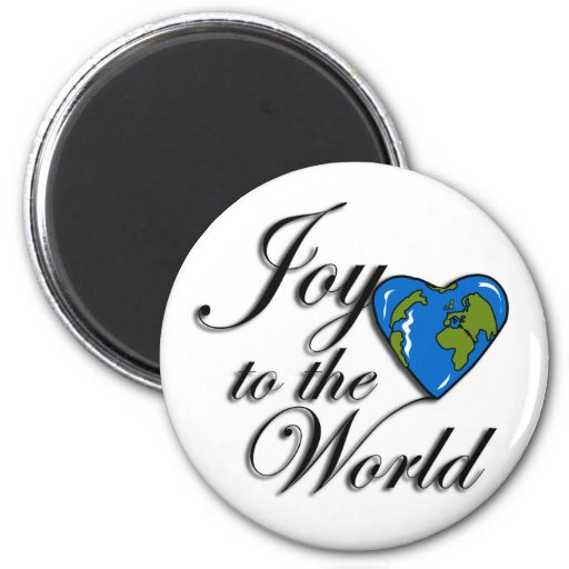Joy to the world refrigerator magnets
