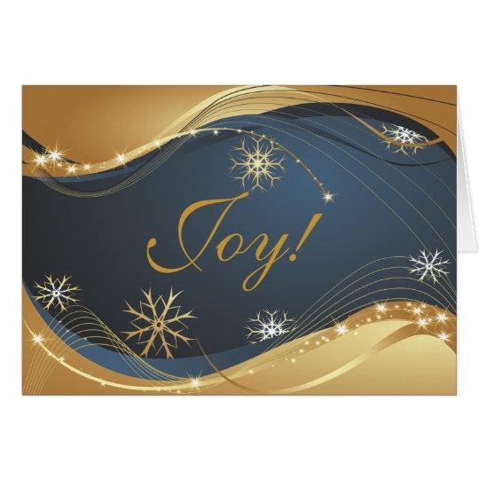 Joy to the World Modern Christmas Card