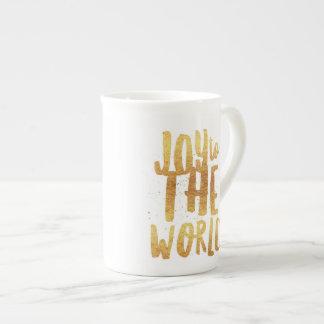 Joy to the World mug - Gold print