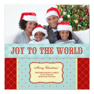 Joy to the World Personalized Photo Christmas Card