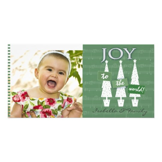 Joy to the World photo card template