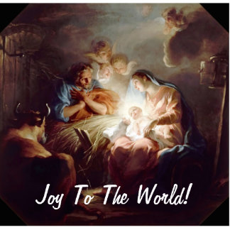 Joy To The World Photo Sculpture Magnet