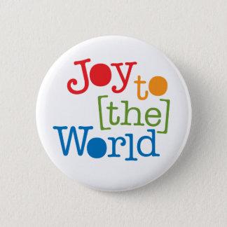 Joy To The World Pinback Button
