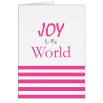 Joy to the World Pink Holiday Gift Card