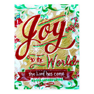Joy to the World Postcard by Jan Marvin