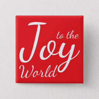 Joy to the World Red Holiday Button