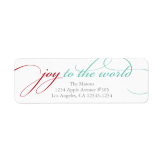Joy To The World | Red/Light Blue Label