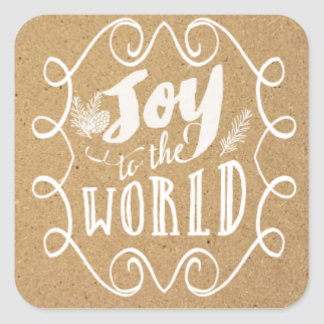 Joy to the world rustic Christmas Stickers