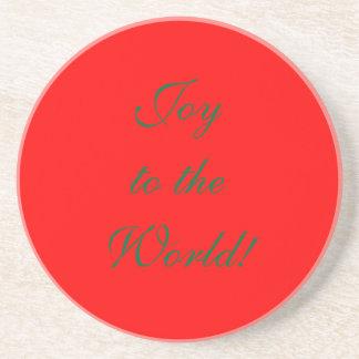 Joy to the World! Sandstone Coaster