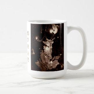 Joy to the World sepia mug