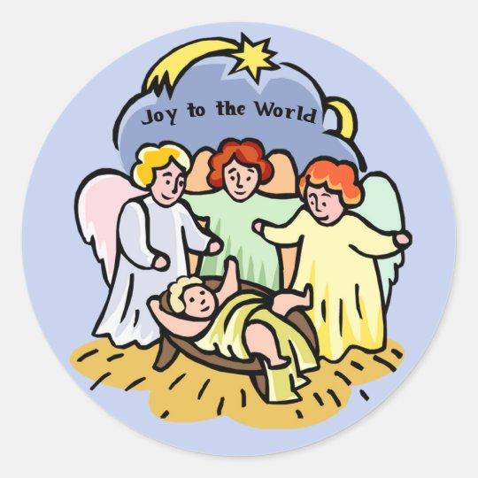 Joy to the World stickers