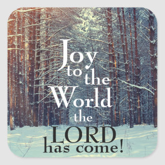 Joy to the World the Lord has Come, Christmas Square Sticker
