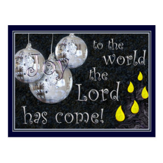 Joy to the world, the Lord has come! Postcard