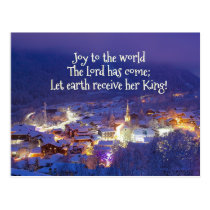 Joy to the World The Lord is Come, Christmas Carol Postcard