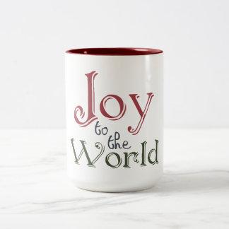 Joy to the World Two-Tone Coffee Mug