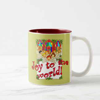 Joy to the World! Two-Tone Coffee Mug
