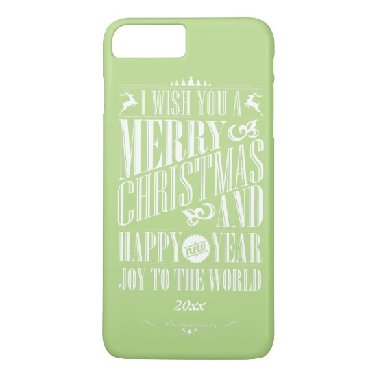 Joy to the World, Typographic Design iPhone 7 Plus Case