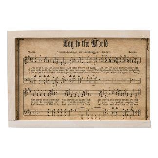 Joy to the World Vintage Christmas Carol Wood Box