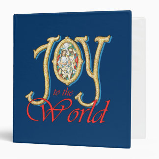 Joy to the World with Stained Glass Nativity Binders