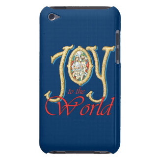 Joy to the World with Stained Glass Nativity iPod Case-Mate Case